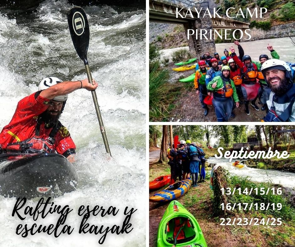 Cursos kayak  Pirineos ¨KAYAK CAMP¨